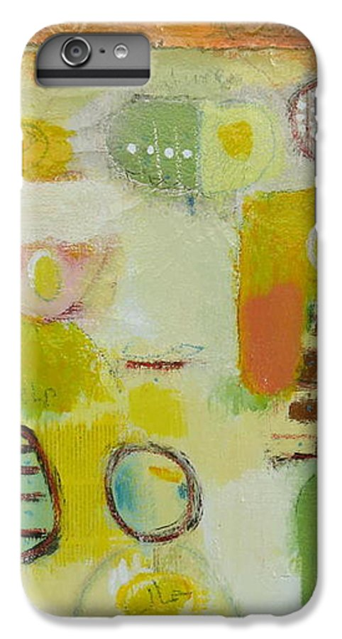IPhone 6 Plus Case featuring the painting Abstract Life 2 by Habib Ayat