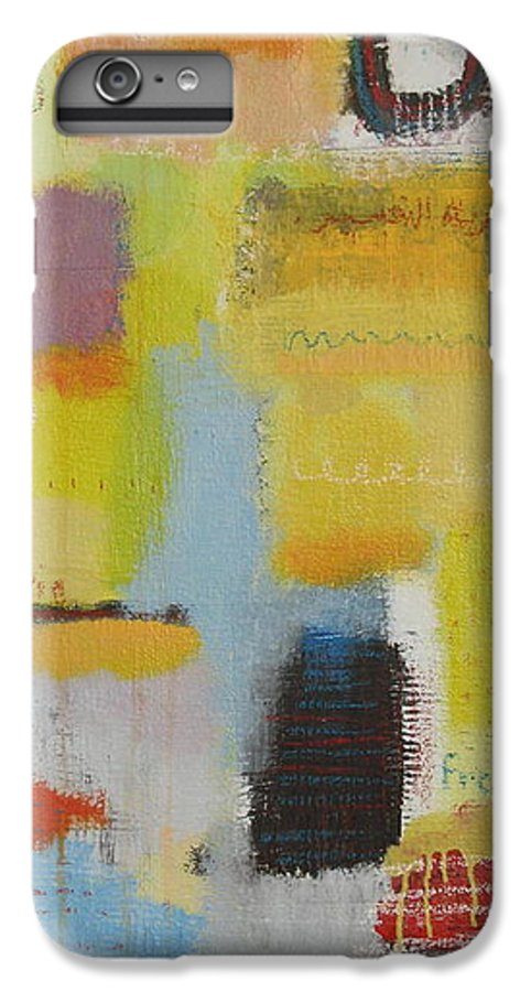 Abstract IPhone 6 Plus Case featuring the painting Abstract Life 3 by Habib Ayat