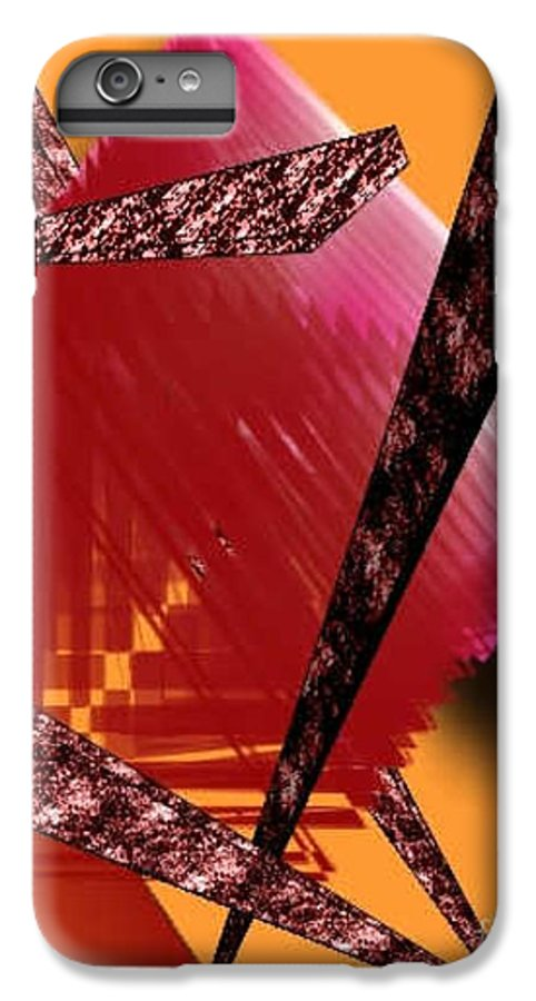 Abstracts IPhone 6 Plus Case featuring the digital art Abstract-n-gold by Brenda L Spencer