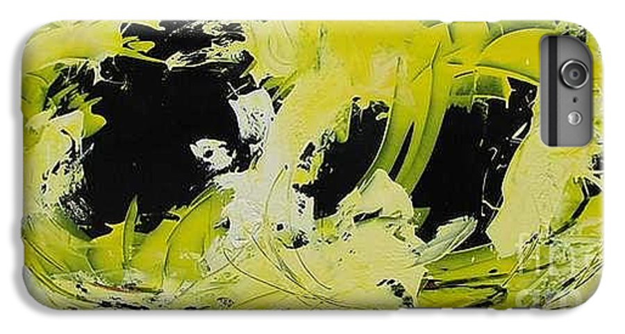 Abstract IPhone 6 Plus Case featuring the painting Abstract Nature by Mario Zampedroni