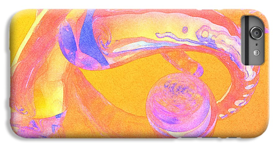 Glass IPhone 6 Plus Case featuring the painting Abstract Number 2 by Peter J Sucy