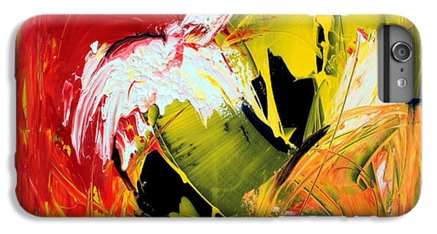 Abstarct IPhone 6 Plus Case featuring the painting Abstract Painting by Mario Zampedroni