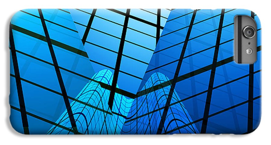 Abstract IPhone 6 Plus Case featuring the photograph Abstract Skyscrapers by Setsiri Silapasuwanchai
