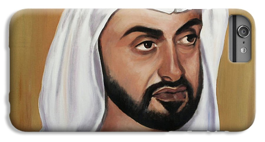 Abu Dhabi IPhone 6 Plus Case featuring the painting Abu Dhabi Crown Prince by Fiona Jack