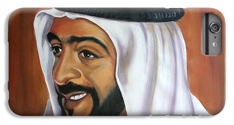 Portrait IPhone 6 Plus Case featuring the painting Abu Dhabi by Fiona Jack