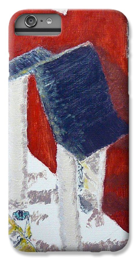 Social Realiism IPhone 6 Plus Case featuring the painting Accessories by R B