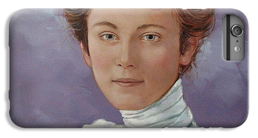 Posthumous Portrait IPhone 6 Plus Case featuring the painting Ada Douglas by Jerrold Carton