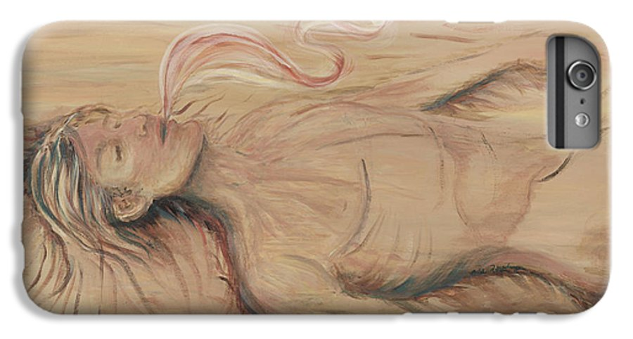 Adam IPhone 6 Plus Case featuring the painting Adam And The Breath Of God by Nadine Rippelmeyer