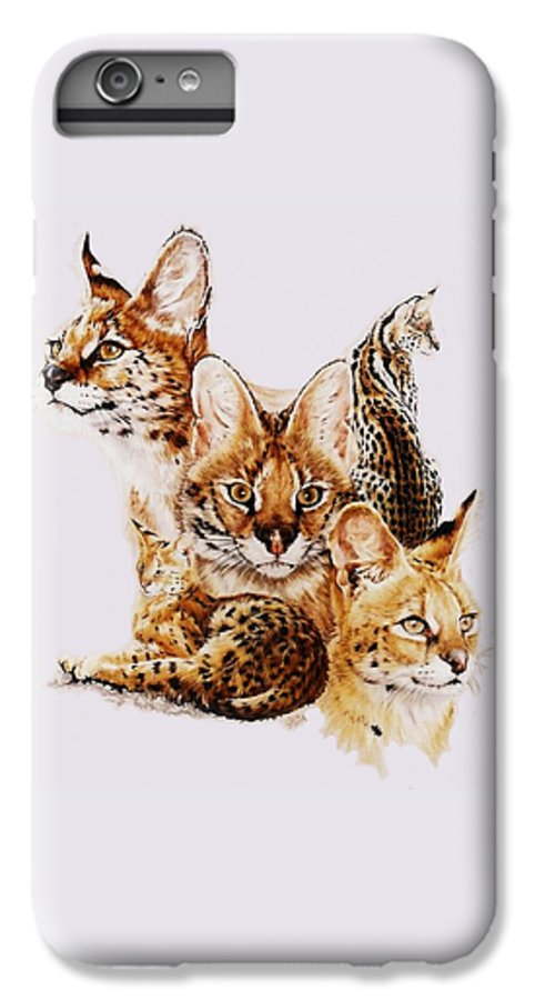 Serval IPhone 6 Plus Case featuring the drawing Adroit by Barbara Keith