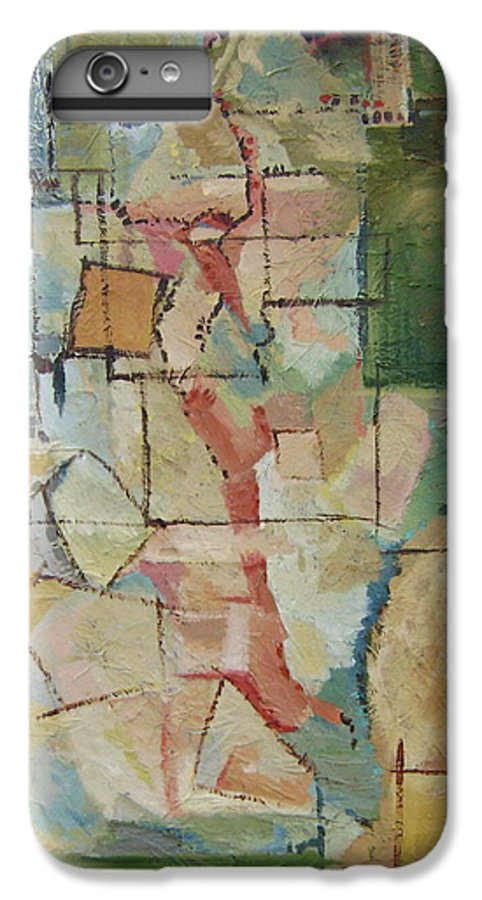 Abstract Art IPhone 6 Plus Case featuring the painting Aerial by Ginger Concepcion