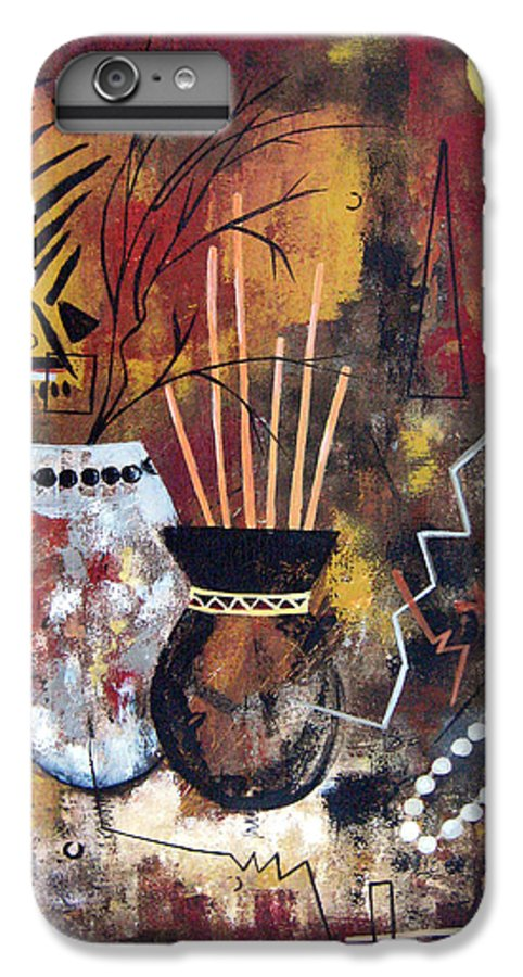Abstract IPhone 6 Plus Case featuring the painting African Perspective by Ruth Palmer