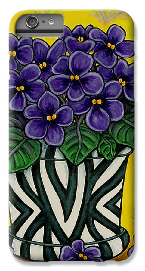 Violets IPhone 6 Plus Case featuring the painting African Queen by Lisa Lorenz