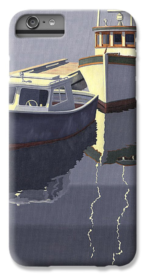 Boat IPhone 6 Plus Case featuring the painting After The Rain by Gary Giacomelli