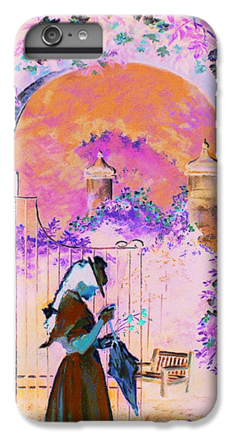 Rose IPhone 6 Plus Case featuring the painting Afternoon Stroll by Jean Hildebrant