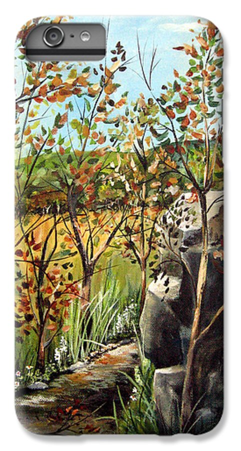 IPhone 6 Plus Case featuring the painting Afternoon Stroll by Ruth Palmer