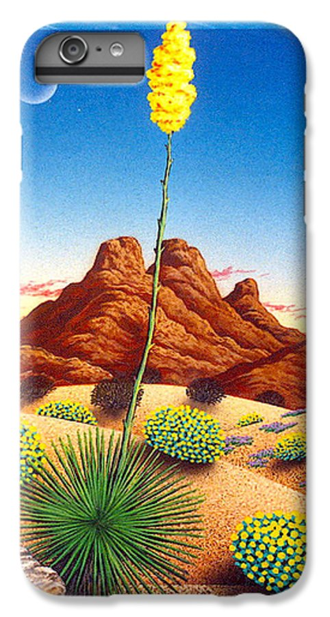 Agave Cactus IPhone 6 Plus Case featuring the painting Agave Bloom by Snake Jagger
