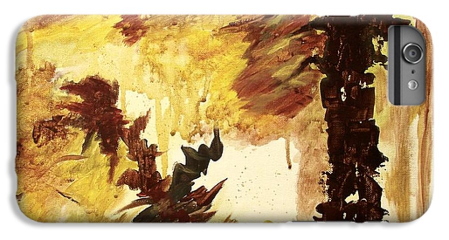 Abstract IPhone 6 Plus Case featuring the painting Age Of The Fall by Itaya Lightbourne