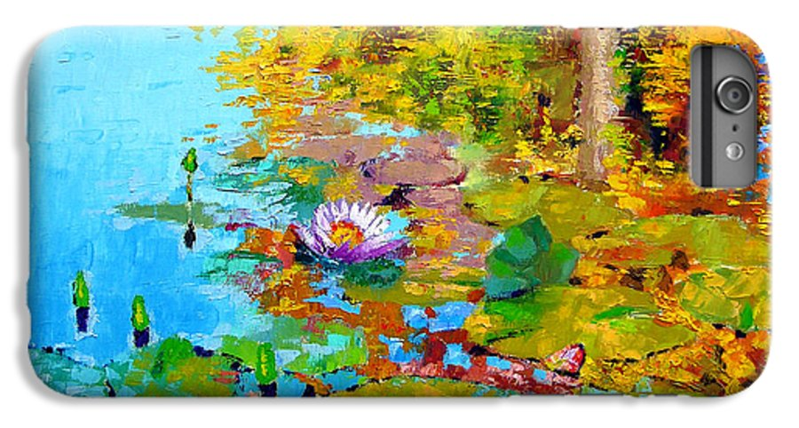 Fall IPhone 6 Plus Case featuring the painting Aglow With Fall by John Lautermilch