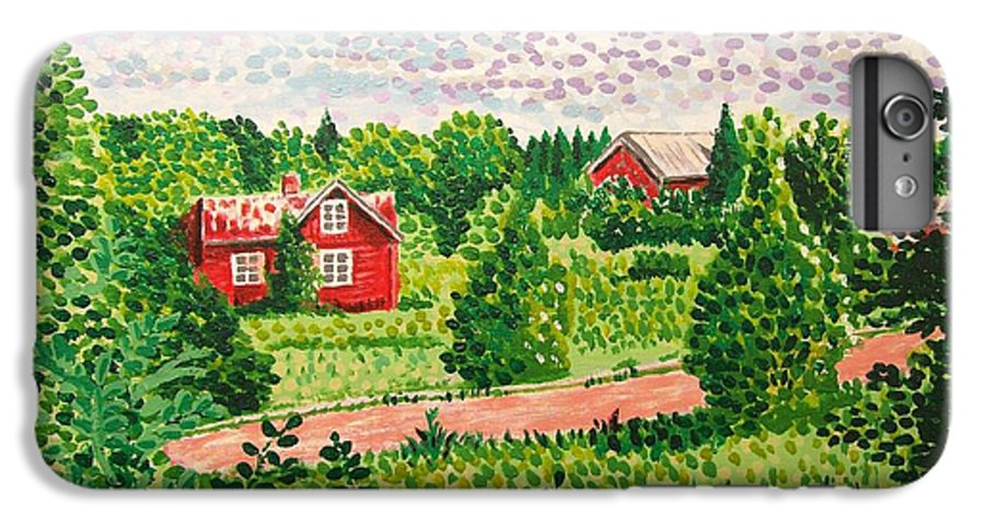 Aland IPhone 6 Plus Case featuring the painting Aland Landscape by Alan Hogan
