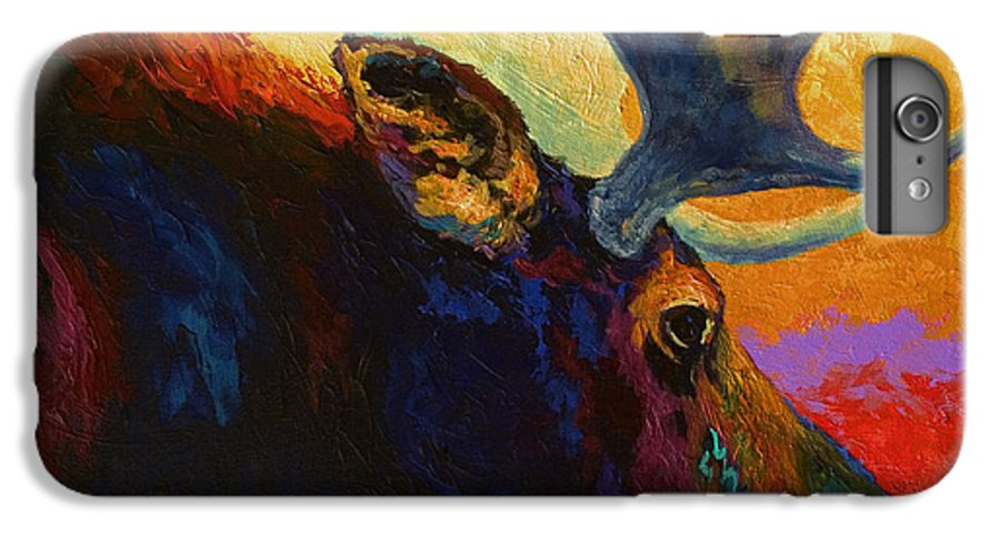 Moose IPhone 6 Plus Case featuring the painting Alaskan Spirit - Moose by Marion Rose