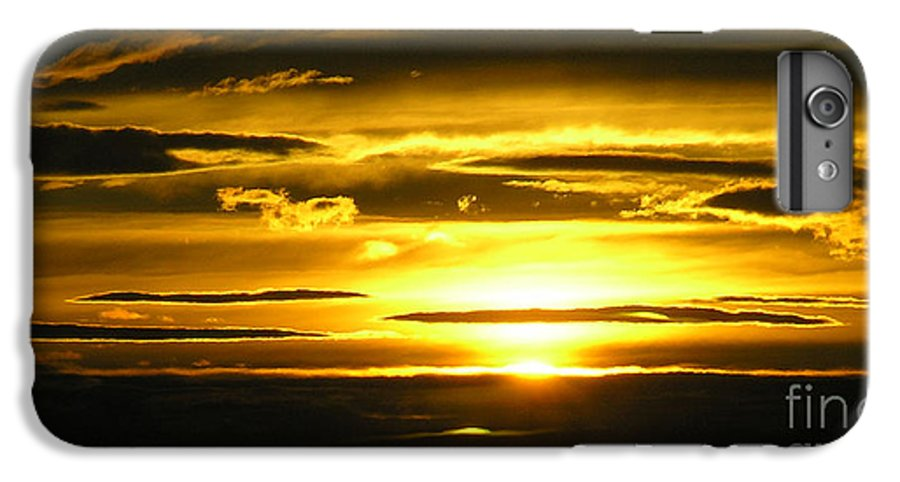 Sunset IPhone 6 Plus Case featuring the photograph Alaskan Sunset by Louise Magno