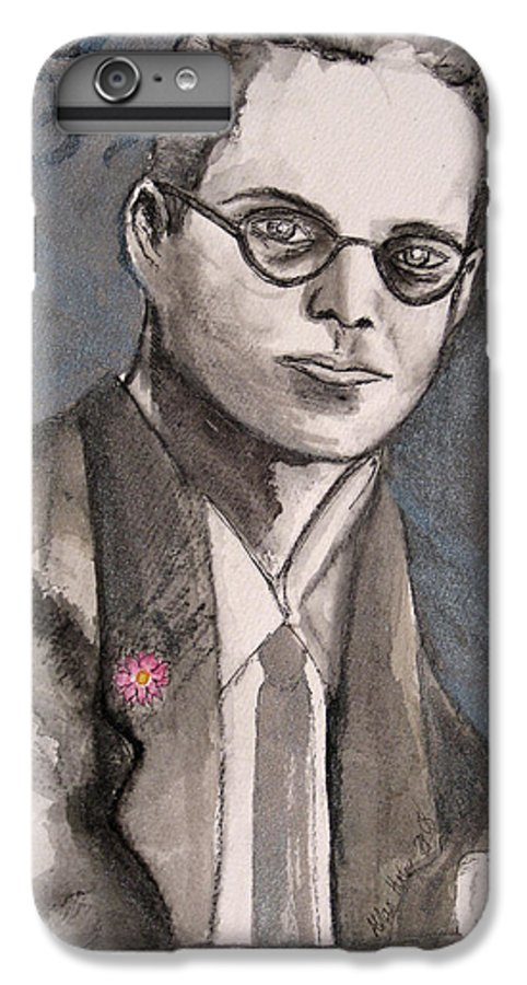 Aldous Brave Darkestartist Huxley New Painting Portrait Watercolor Watercolour World IPhone 6 Plus Case featuring the painting Aldous Huxley by Darkest Artist