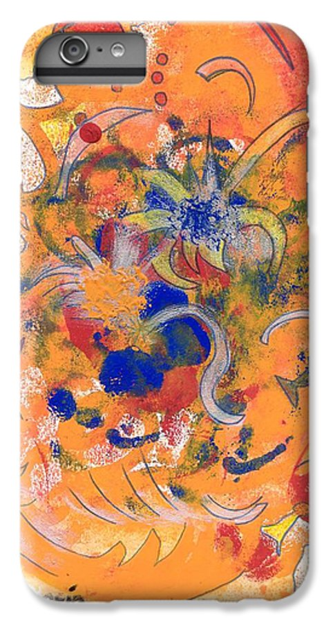 Alegria IPhone 6 Plus Case featuring the mixed media Alegria by Michael Puya