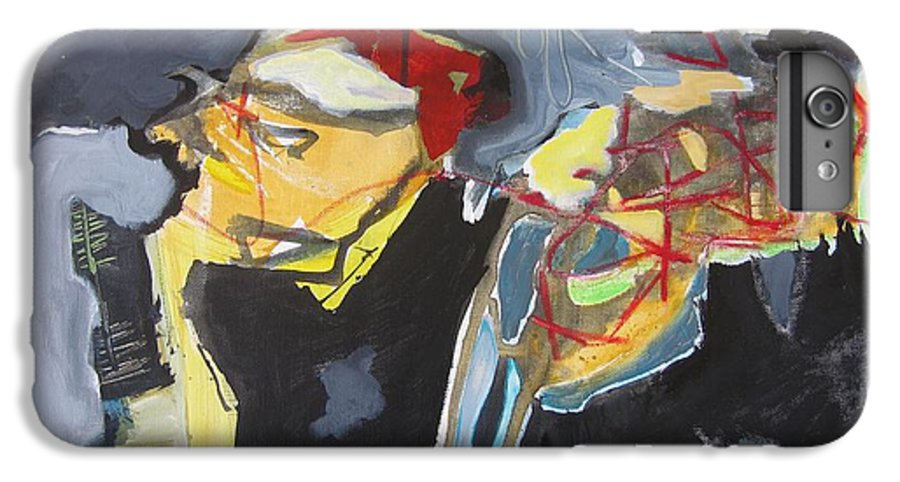 Abstract Paintings IPhone 6 Plus Case featuring the painting Alexander Trail by Seon-Jeong Kim