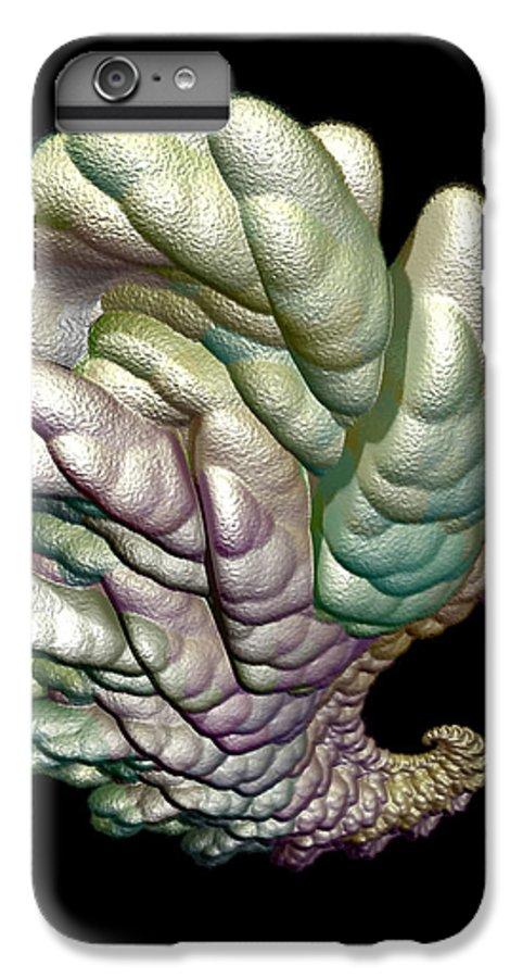 Fractal IPhone 6 Plus Case featuring the digital art Alien Brain by Frederic Durville
