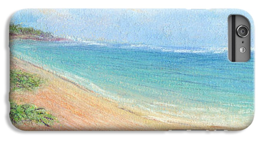 Rainbow Colors Pastel IPhone 6 Plus Case featuring the painting Aliomanu Beach by Kenneth Grzesik