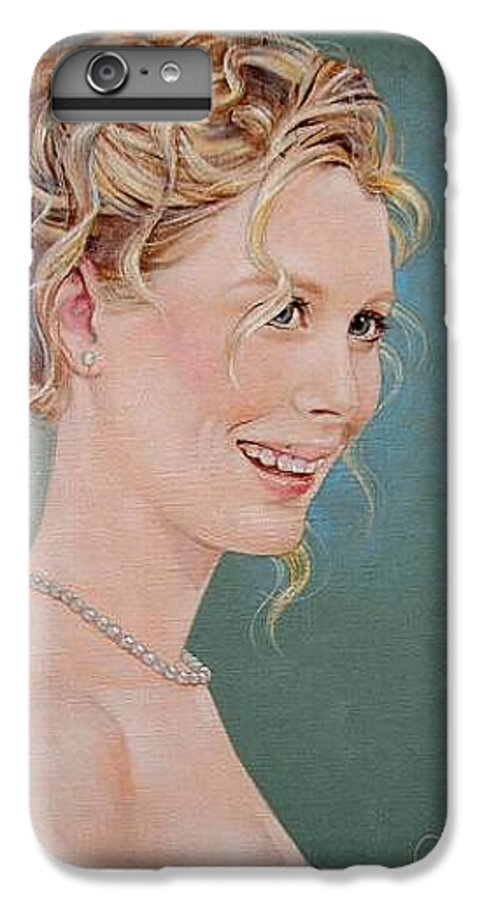Wedding IPhone 6 Plus Case featuring the painting Allison by Jerrold Carton