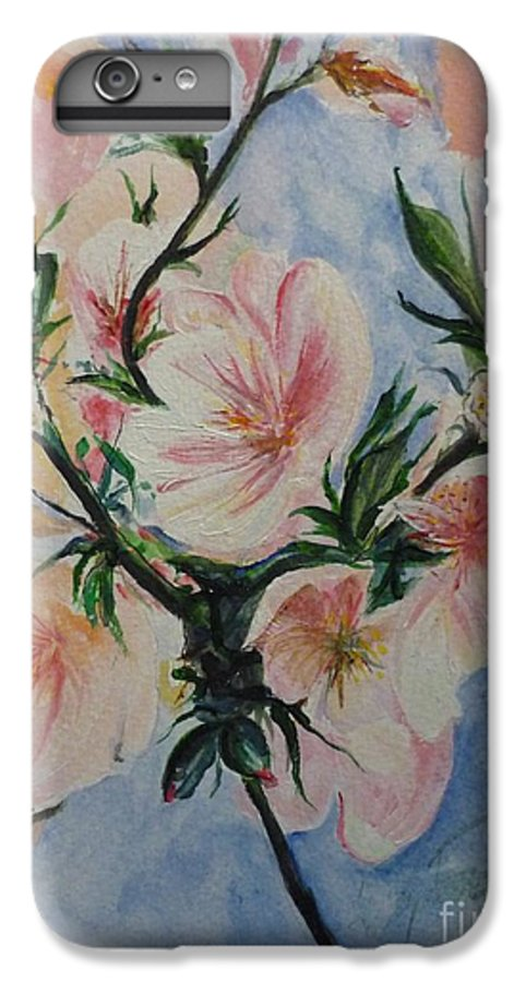Flowers IPhone 6 Plus Case featuring the painting Almond Blossom by Lizzy Forrester