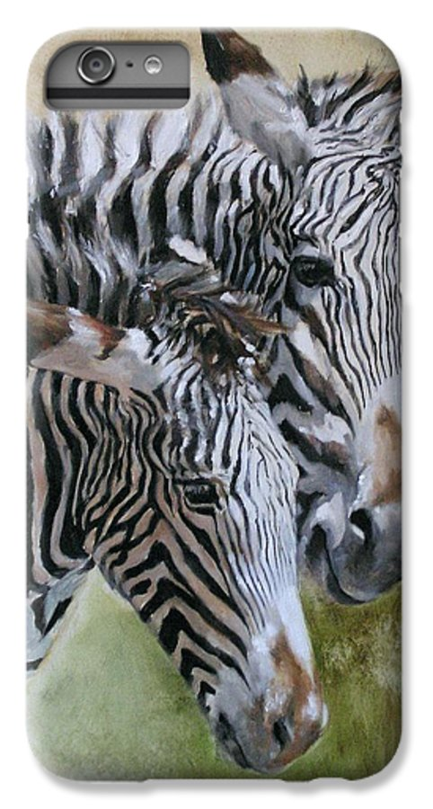 Wildlife Art IPhone 6 Plus Case featuring the painting Almost Grown by Debra Jones