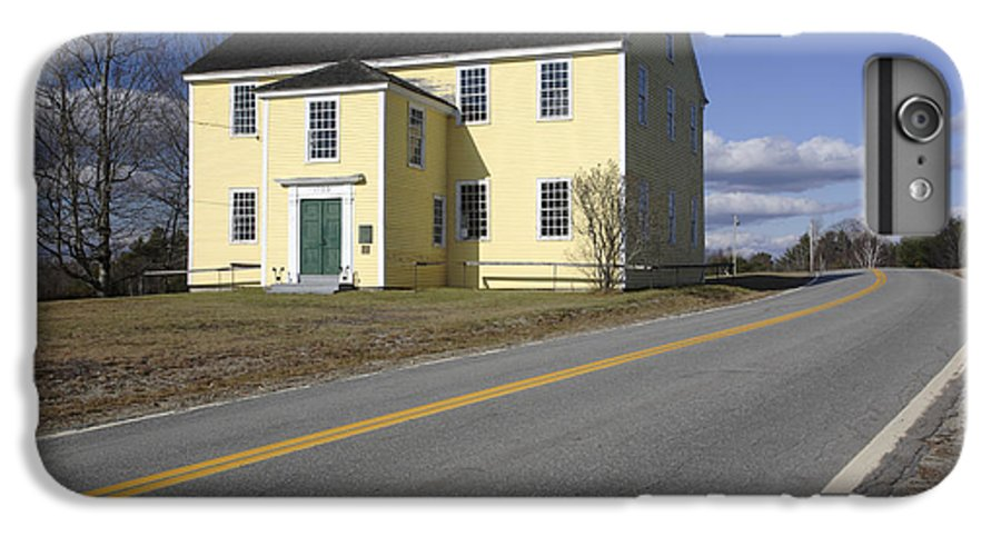 Buildings IPhone 6 Plus Case featuring the photograph Alna Meetinghouse - Alna Maine Usa by Erin Paul Donovan