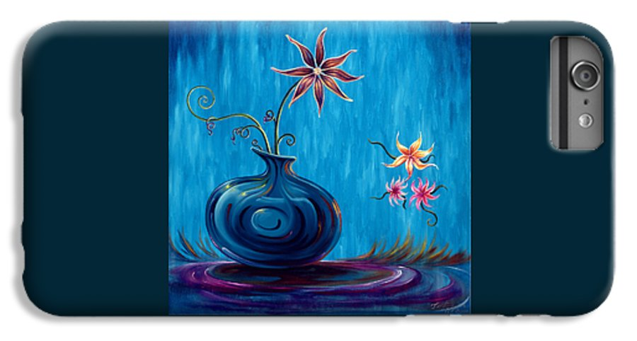 Fantasy Floral Scape IPhone 6 Plus Case featuring the painting Aloha Rain by Jennifer McDuffie
