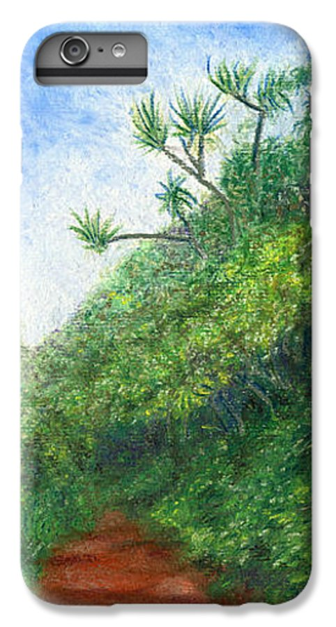 Coastal Decor IPhone 6 Plus Case featuring the painting Along The Trail by Kenneth Grzesik