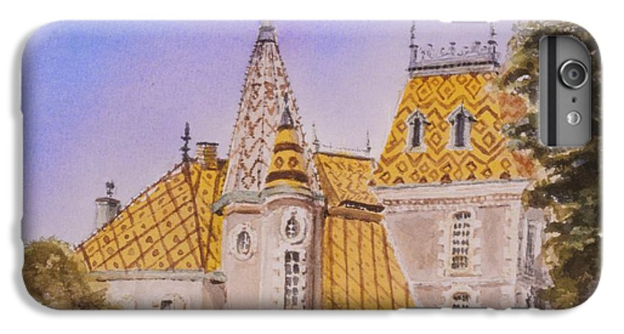 Vineyard IPhone 6 Plus Case featuring the painting Aloxe Corton Chateau Jaune by Mary Ellen Mueller Legault