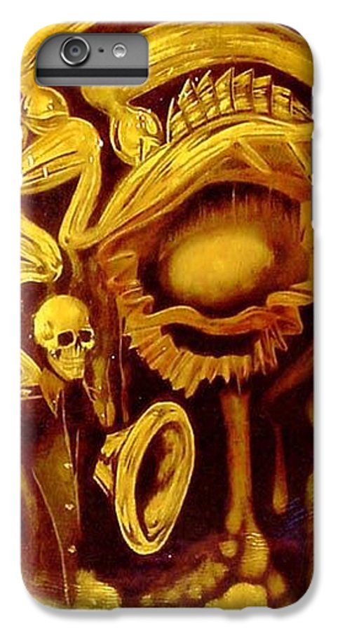 Birth IPhone 6 Plus Case featuring the painting Alpha Omega by Will Le Beouf