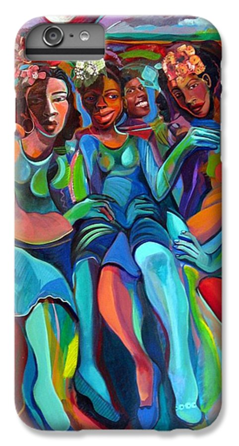 Women IPhone 6 Plus Case featuring the painting Always by Joyce Owens