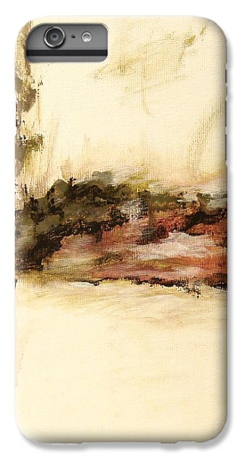 Abstract IPhone 6 Plus Case featuring the painting Ambiguous by Itaya Lightbourne