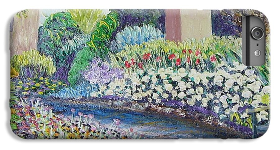 Flowers IPhone 6 Plus Case featuring the painting Amelia Park Pathway by Richard Nowak