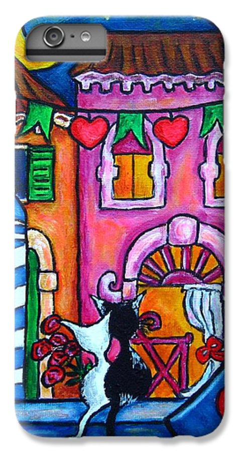 Cats IPhone 6 Plus Case featuring the painting Amore In Venice by Lisa Lorenz