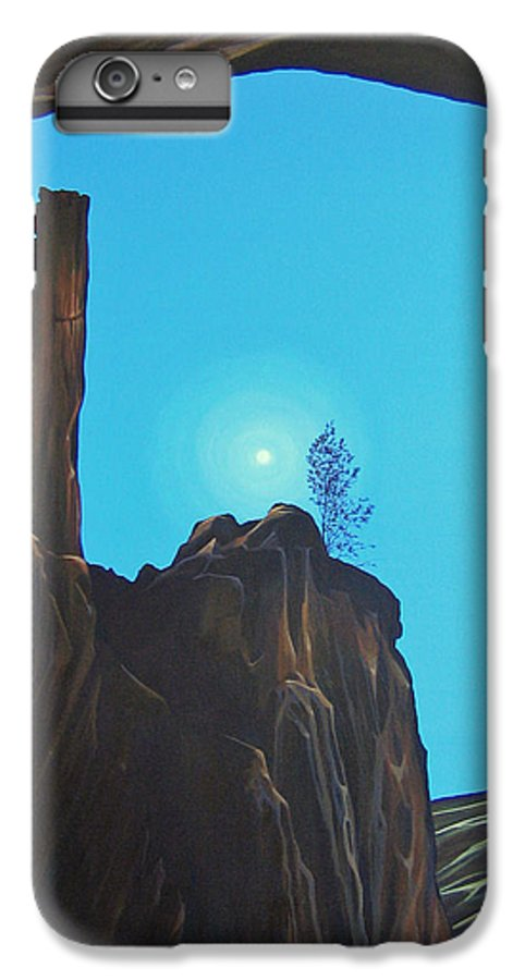 New Mexico IPhone 6 Plus Case featuring the painting Anasazi Dreams by Hunter Jay