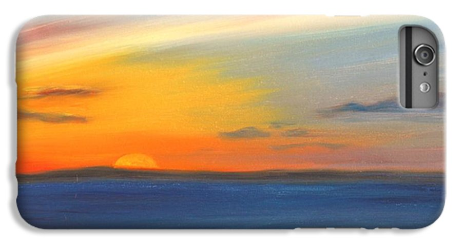 Oil IPhone 6 Plus Case featuring the painting Anchored At Sunset by Greg Neal