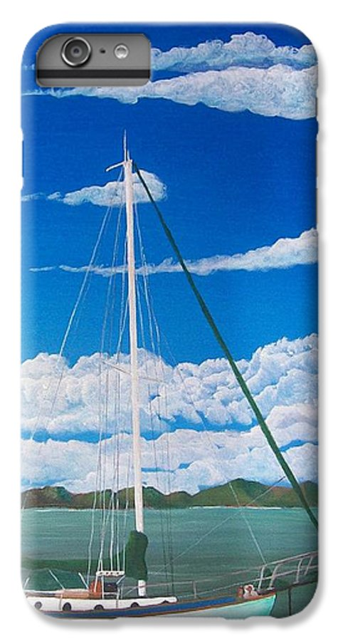 Anchored IPhone 6 Plus Case featuring the painting Anchored by Tony Rodriguez