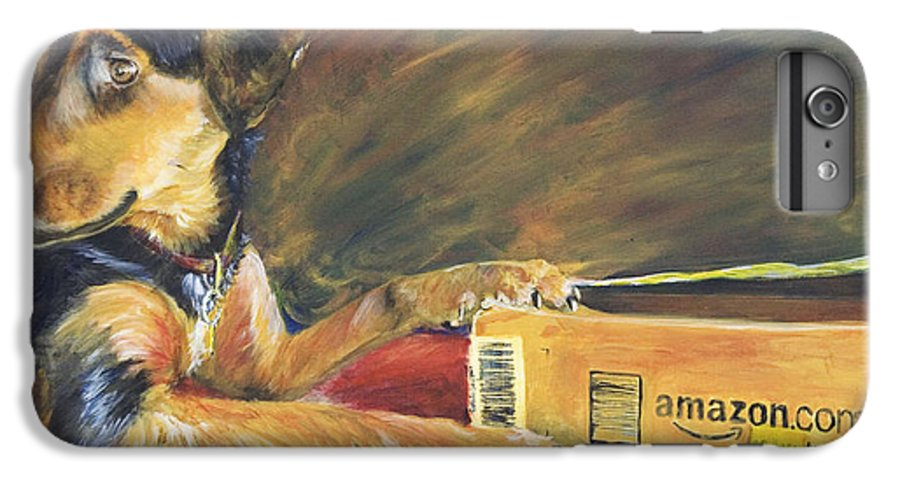 Dog IPhone 6 Plus Case featuring the painting And Youre Done by Nik Helbig