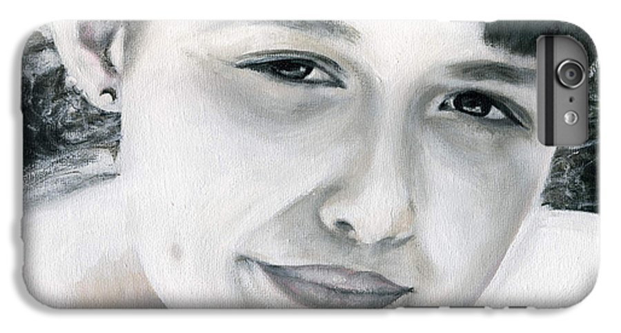 Portrait IPhone 6 Plus Case featuring the painting Ane by Fiona Jack