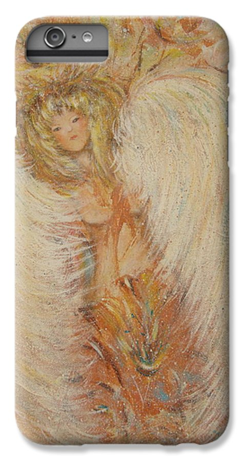 Angel IPhone 6 Plus Case featuring the painting Angel Loves You by Natalie Holland