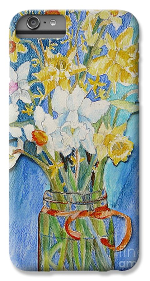 Flowers IPhone 6 Plus Case featuring the painting Angels Flowers by Jan Bennicoff
