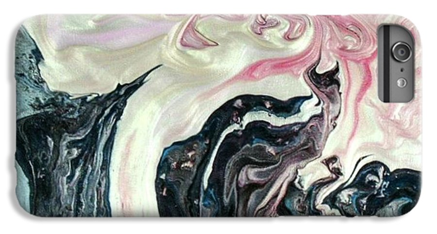 Abstract IPhone 6 Plus Case featuring the painting Angels Vs Demons by Patrick Mock